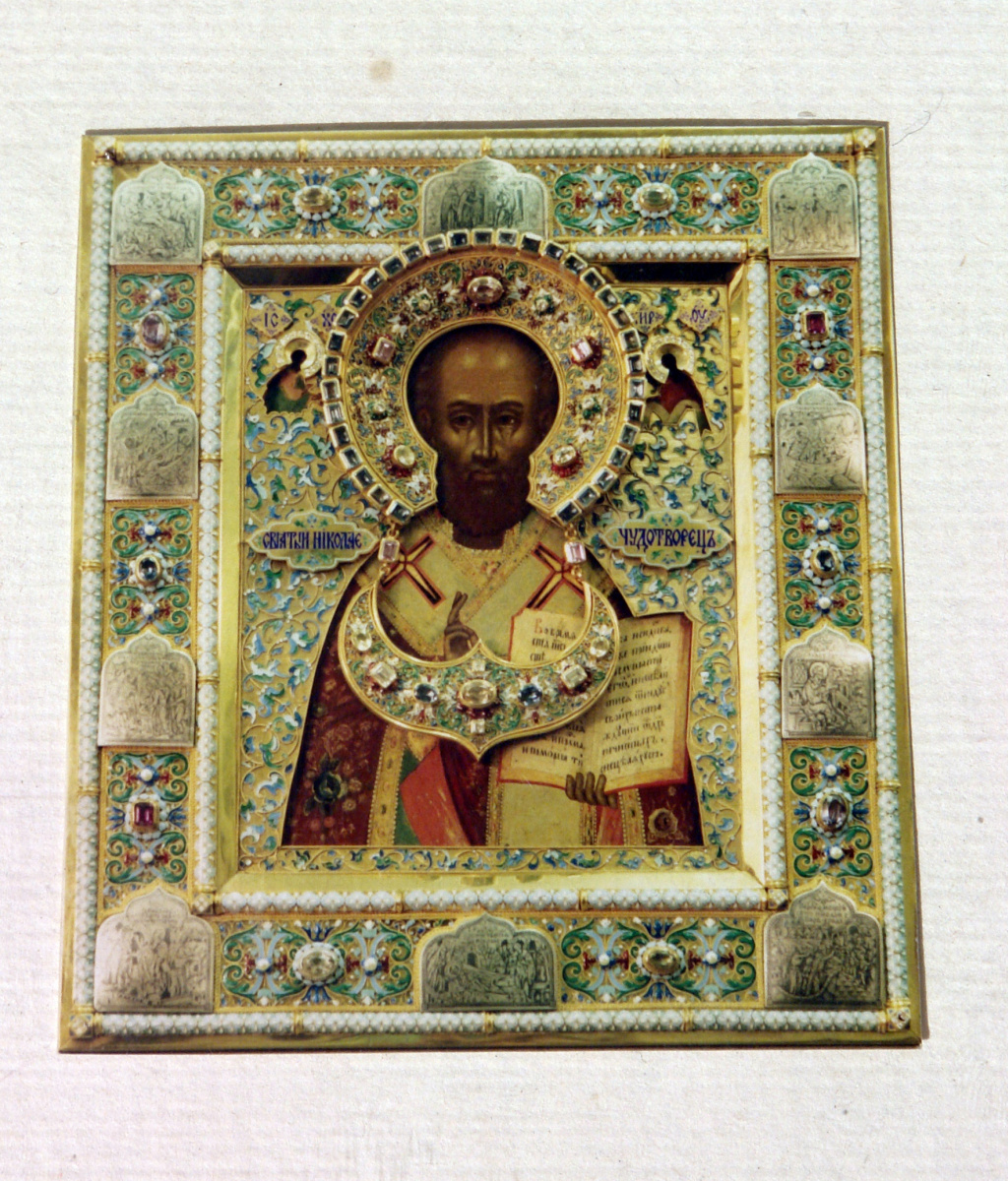 Moscow Icon Painting Workshop. Icon of St. Nicholas