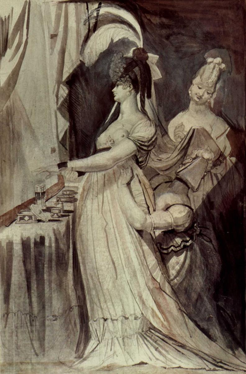Иоганн Генрих Фюссли. Дама у парикмахерского столика