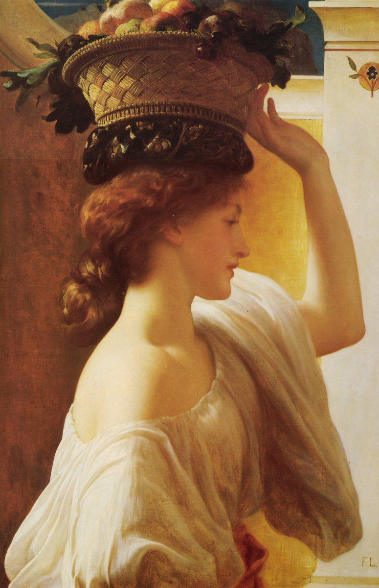 Frederic Leighton. Girl with a basket on his head
