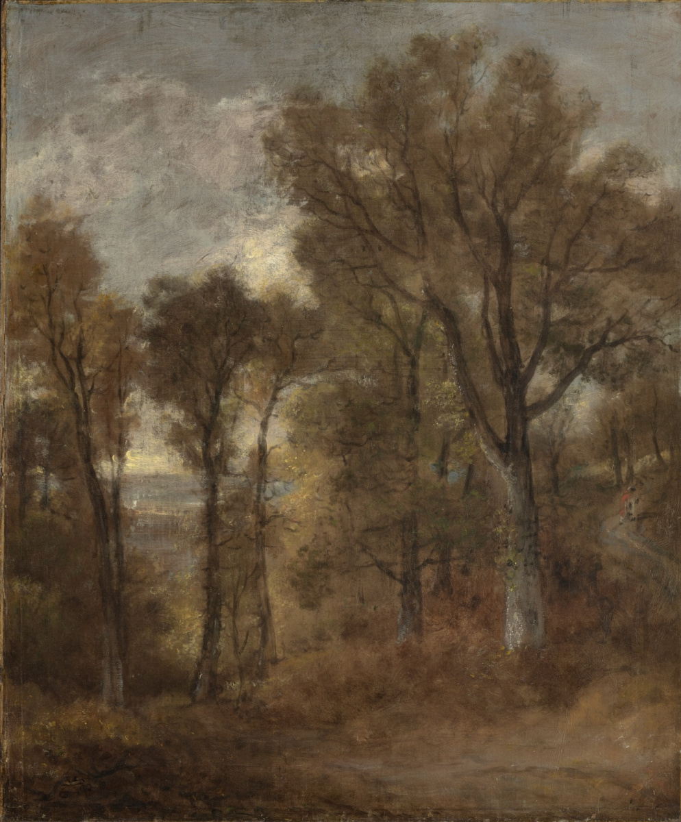 John Constable. Landscape with a path among the trees, the view from Dedham