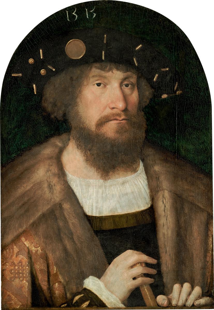 Михель Зиттов. Портрет датского короля Кристиана II