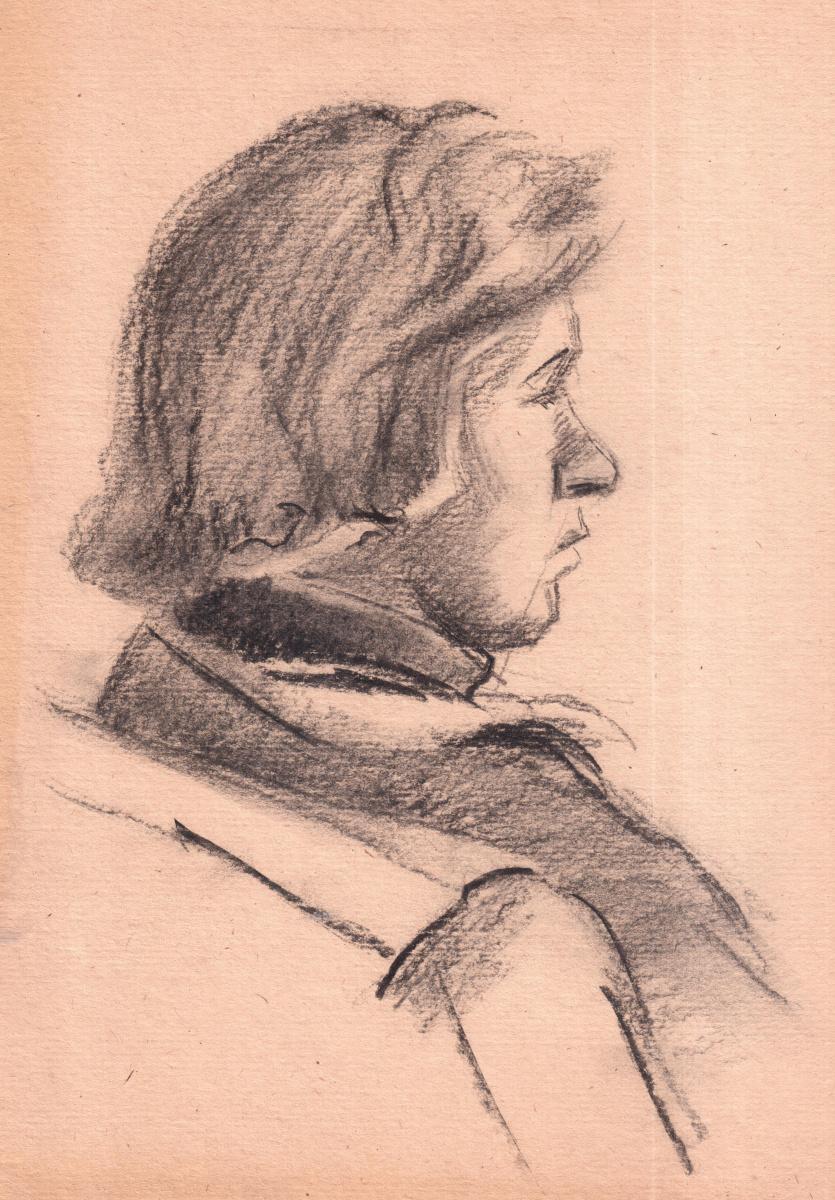 Аркадий Павлович Лаптев. Набросок молодого человека