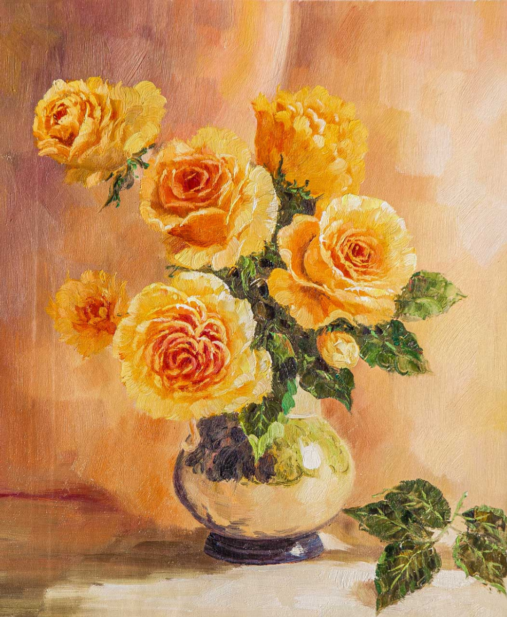 Andrzej Vlodarczyk. Букет жёлтых роз на счастье
