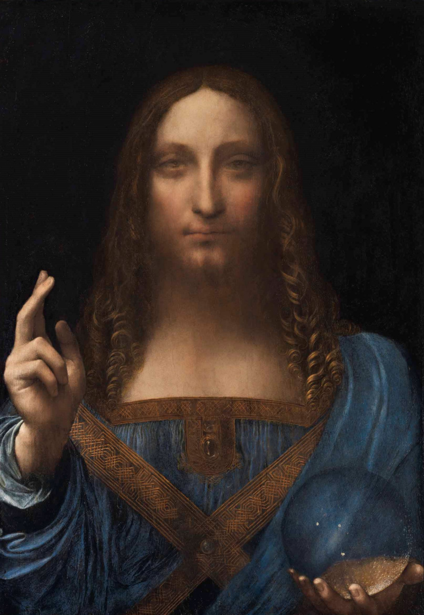 Leonardo da Vinci. Salvator Mundi (Savior of the World)