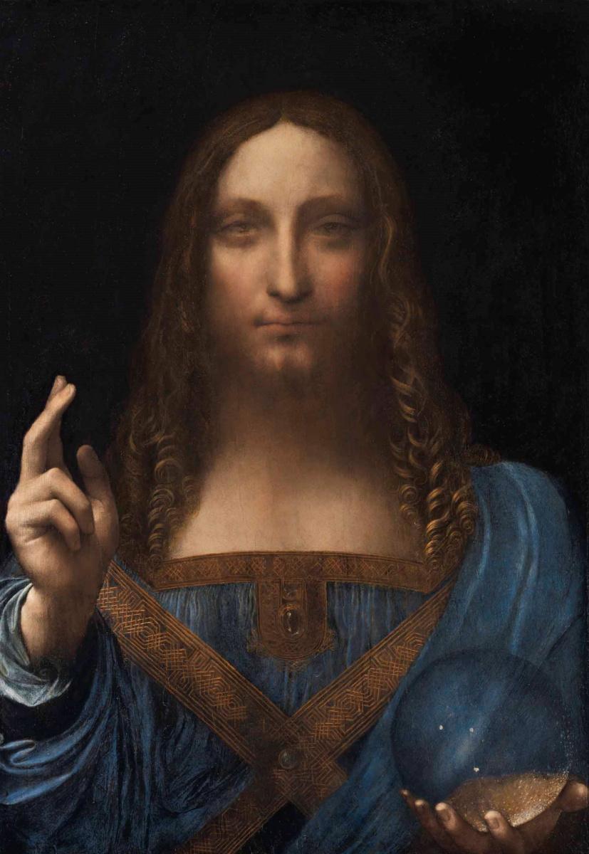Leonardo da Vinci. Salvator Mundi (Savior of the World)