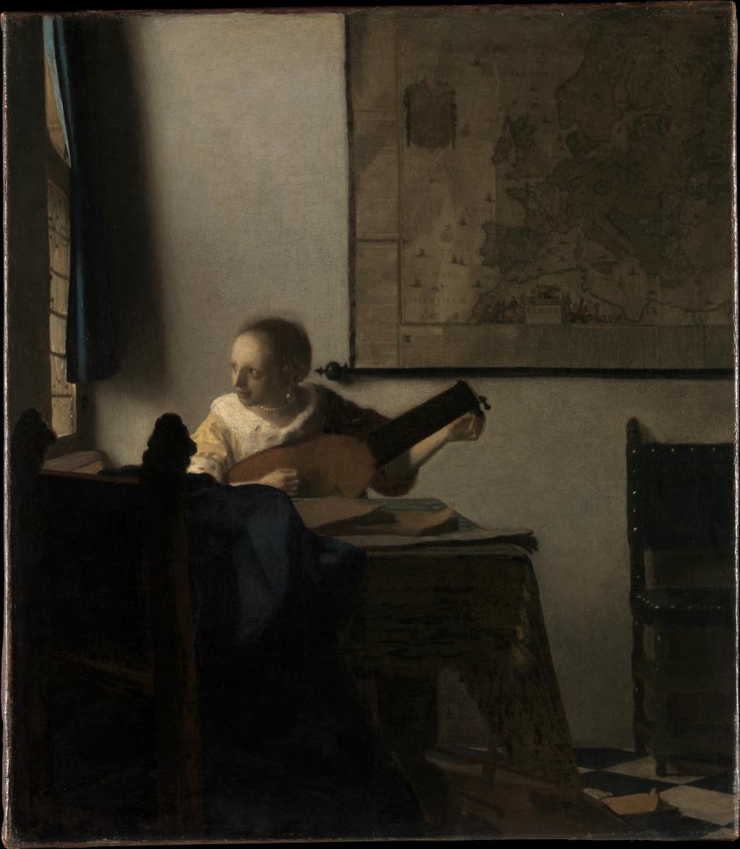 Jan Vermeer. Woman with a lute