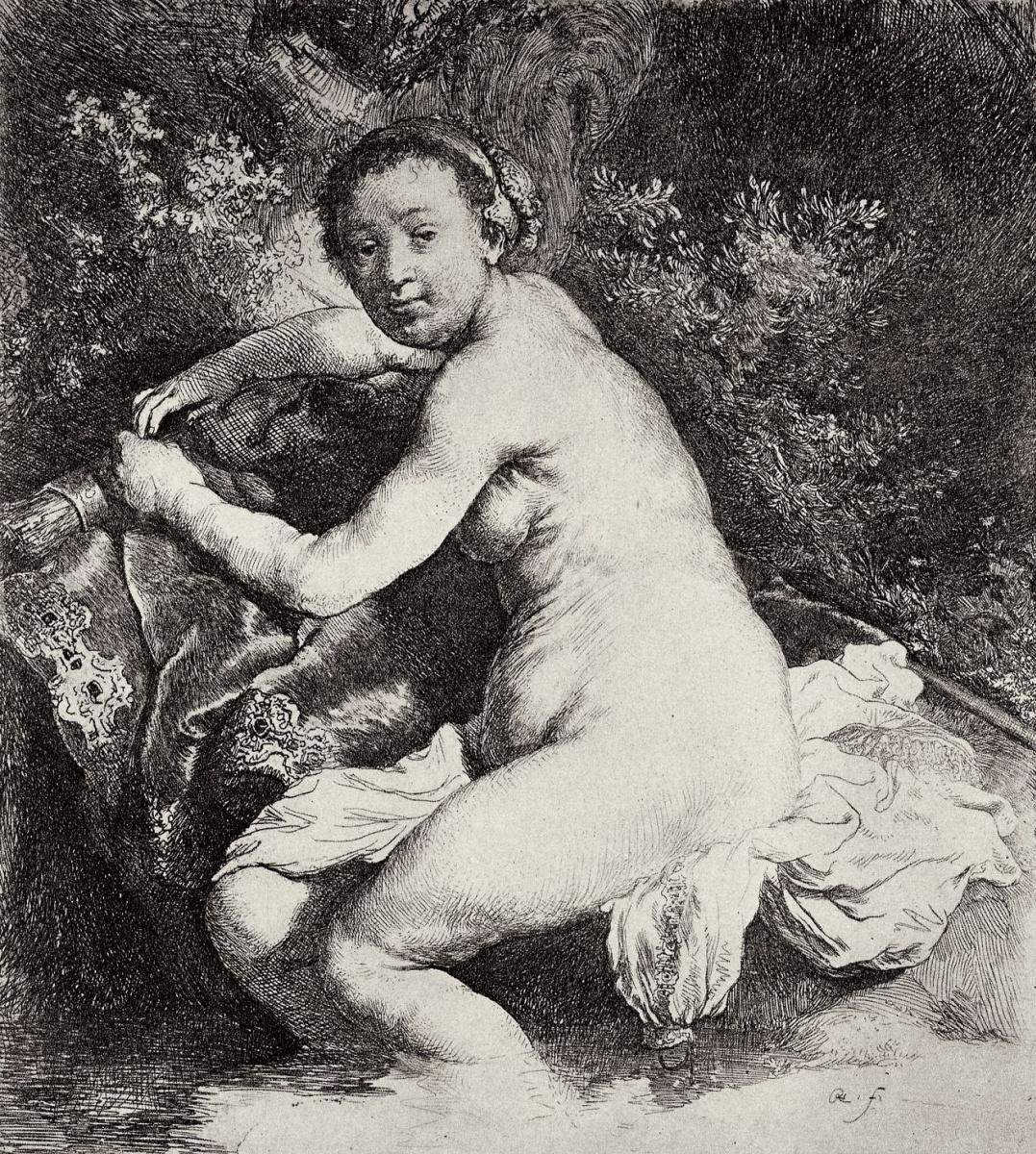 Рембрандт Харменс ван Рейн. Купающаяся Диана