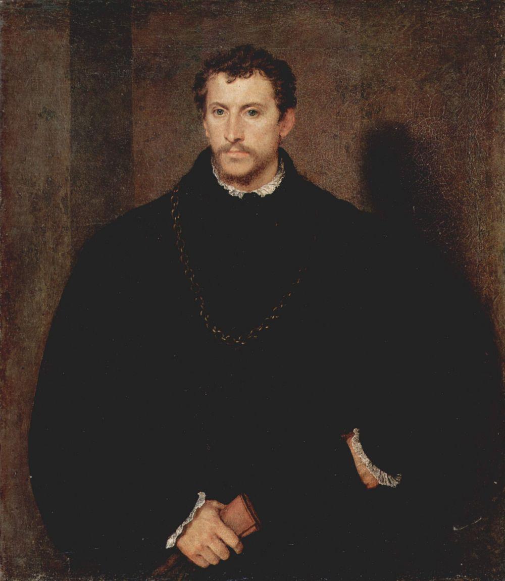 Titian Vecelli. Portrait of a young man (Portrait of Ippolito Ferrarese lawyer Riminaldi)