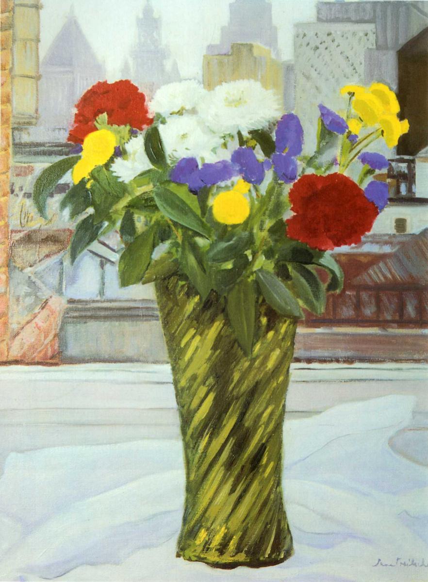 Джейн Фрейличер. Ваза с цветами