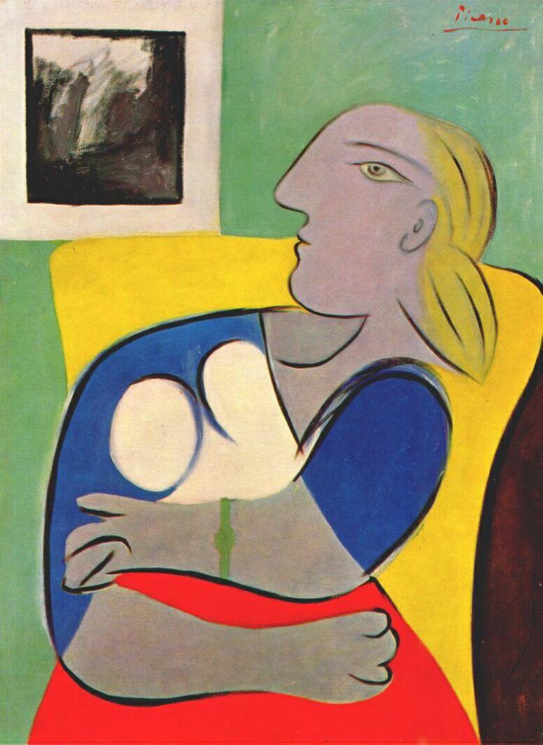 Пабло Пикассо. Женщина в желтом кресле
