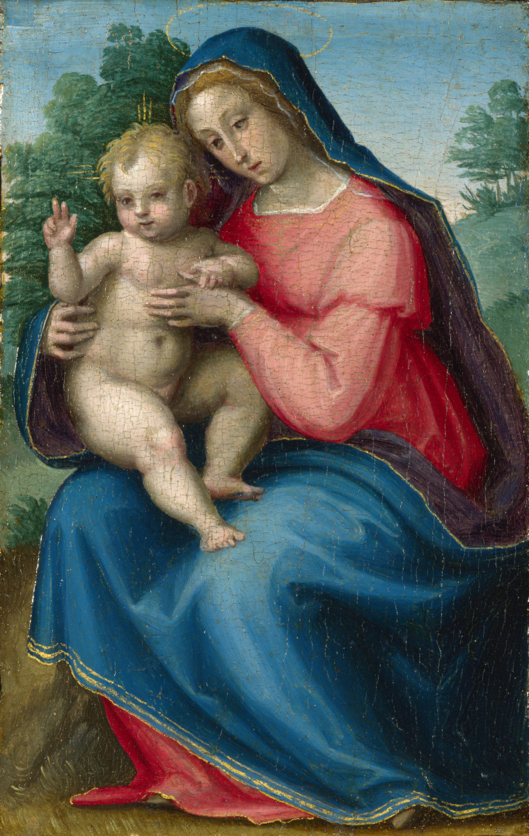 Антонио Соглиани Джованни. Мадонна с младенцем