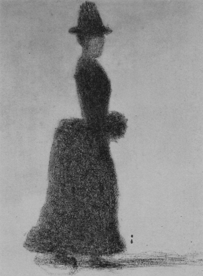 Жорж Сёра. Женщина с муфтой