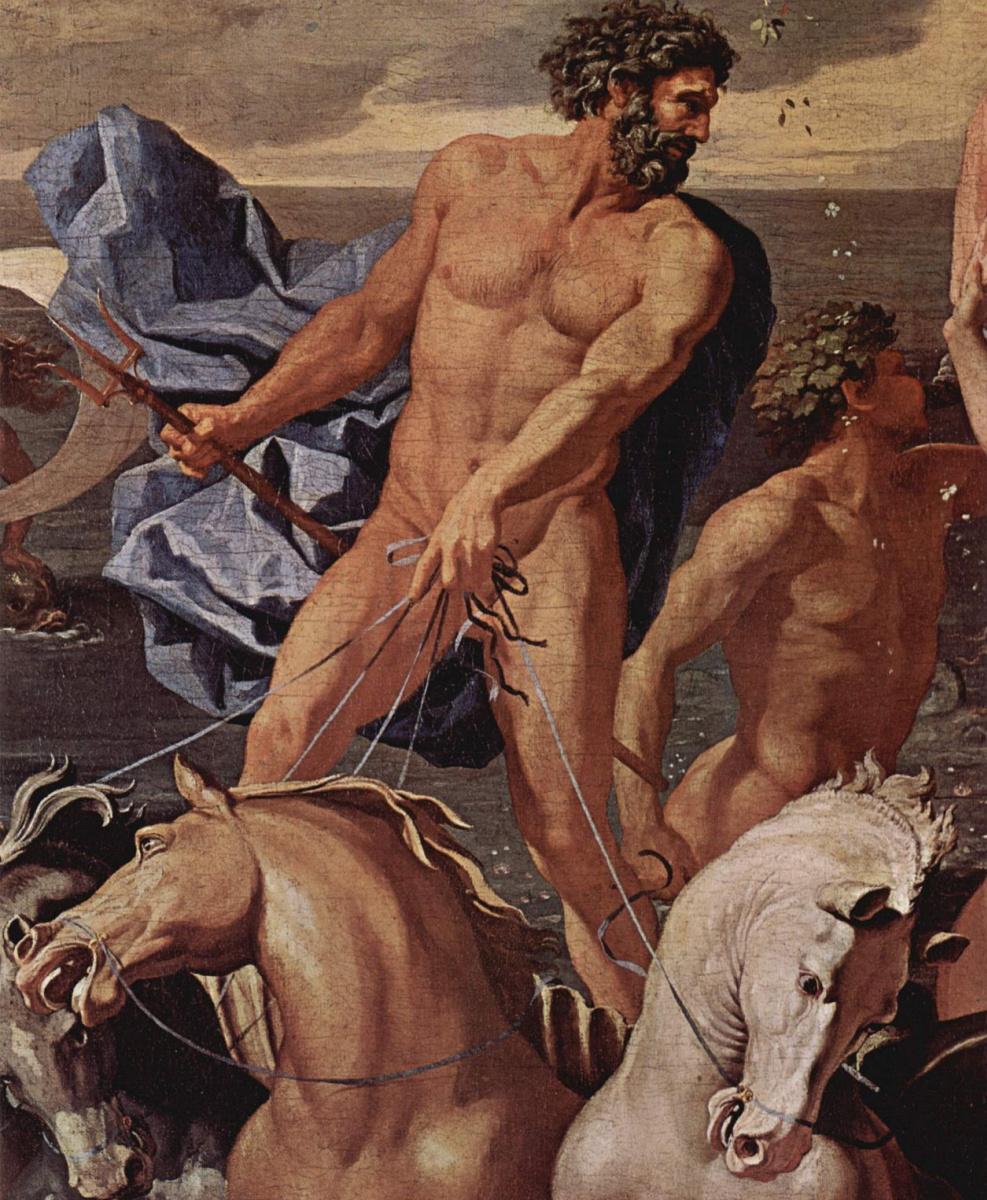 Никола Пуссен. Триумфальное шествие Нептуна. Деталь