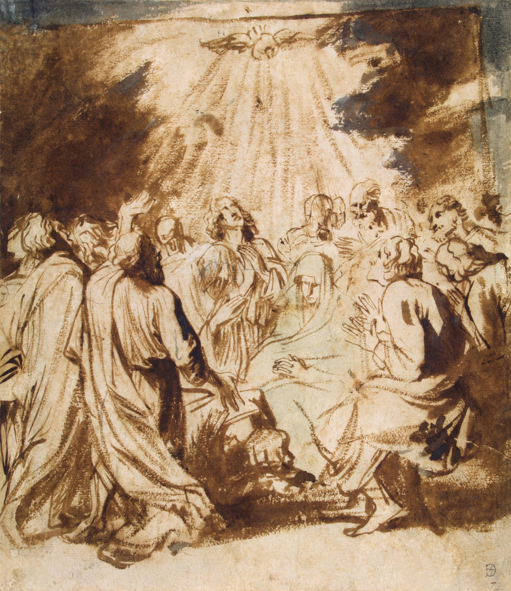 Anthony van Dyck. The descent of the Holy spirit on the apostles
