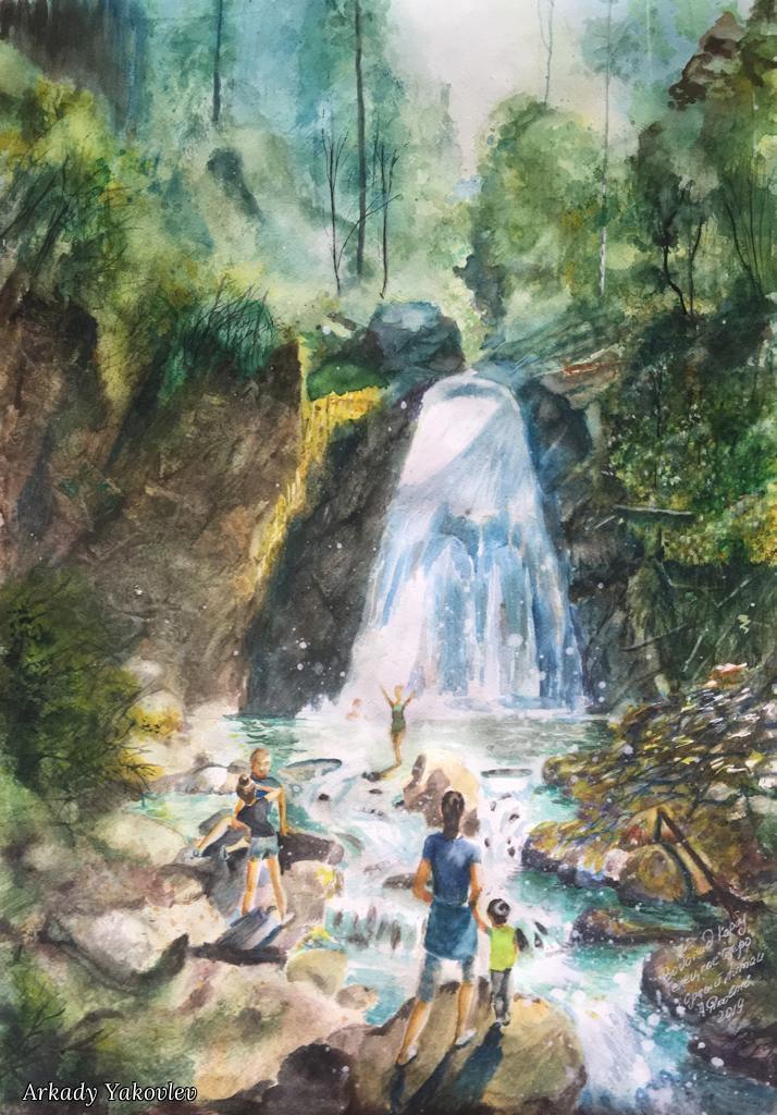 Arkady Yakovlev. Водопад Корбу. Телецкое Озеро. Горный Алтай