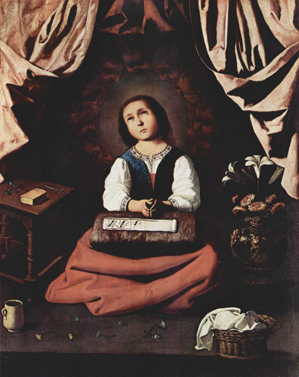 Франсиско де Сурбаран. Молитва Девы Марии