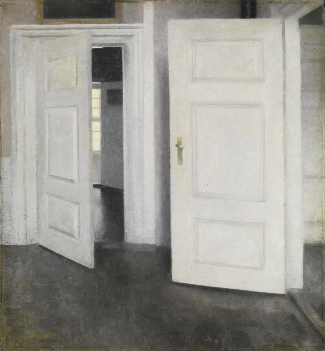 Vilhelm Hammershøi. White doors. Stranddheed, 30