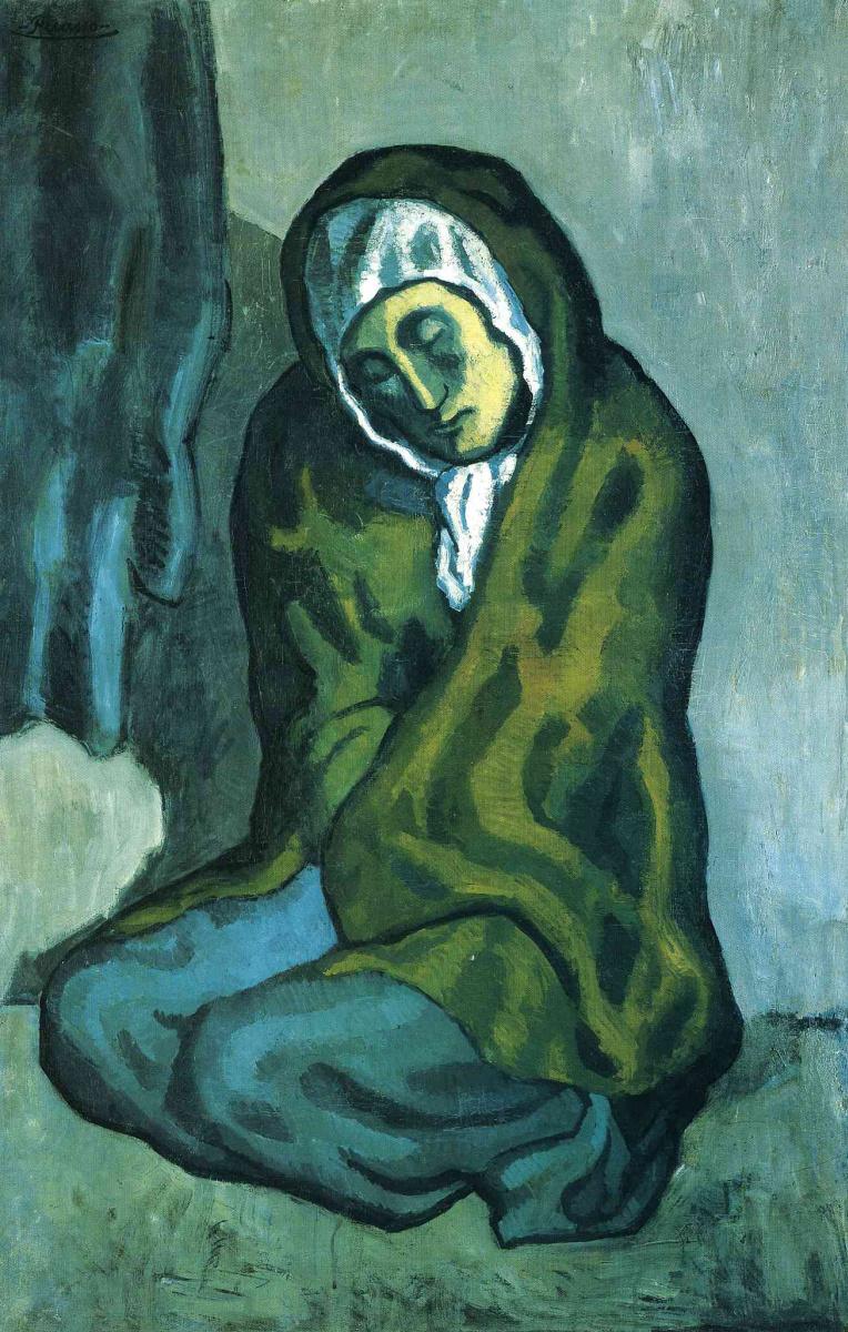 Пабло Пикассо. Нищая на корточках
