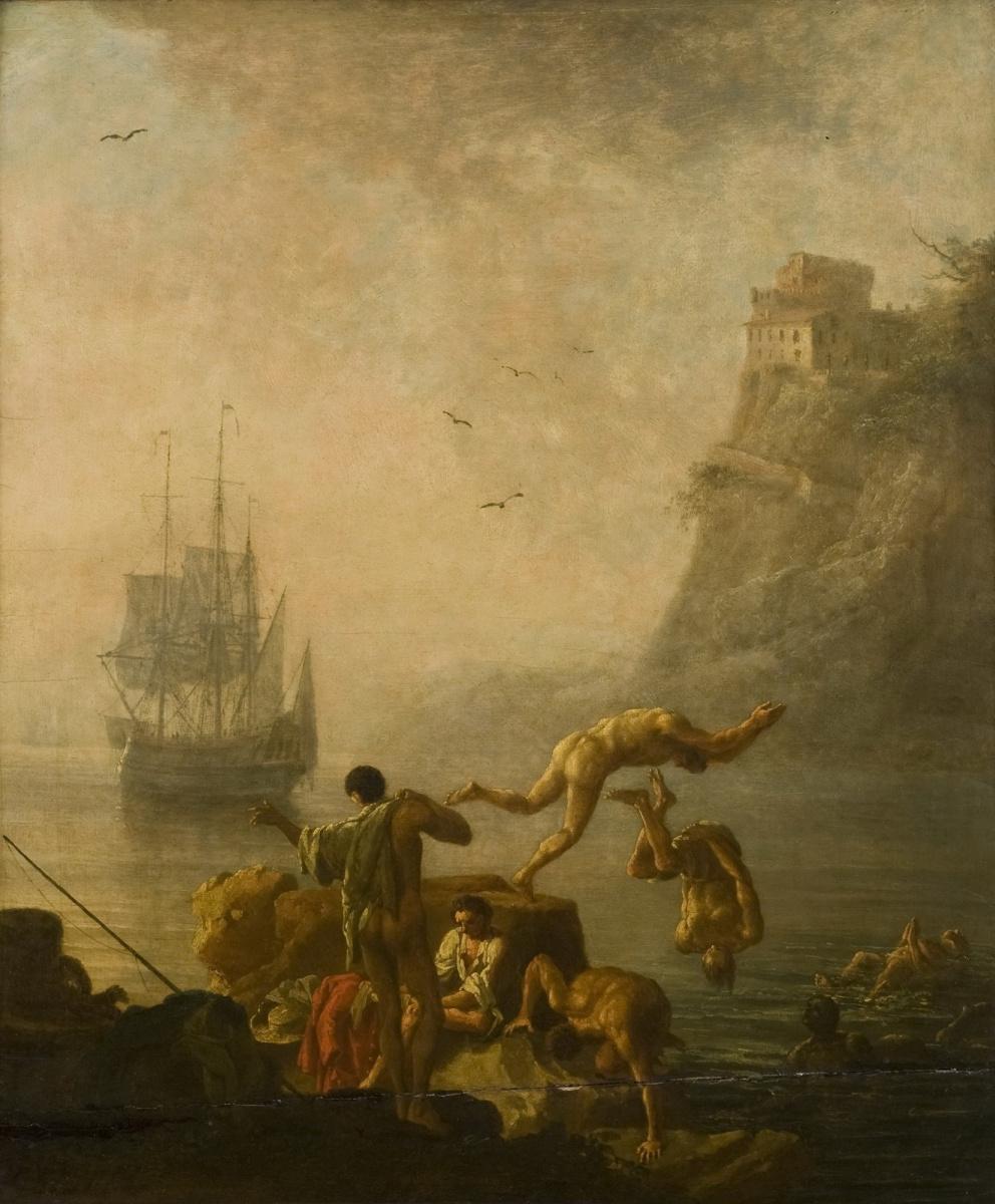 Pierre-Jacques Woller. Bathing men.