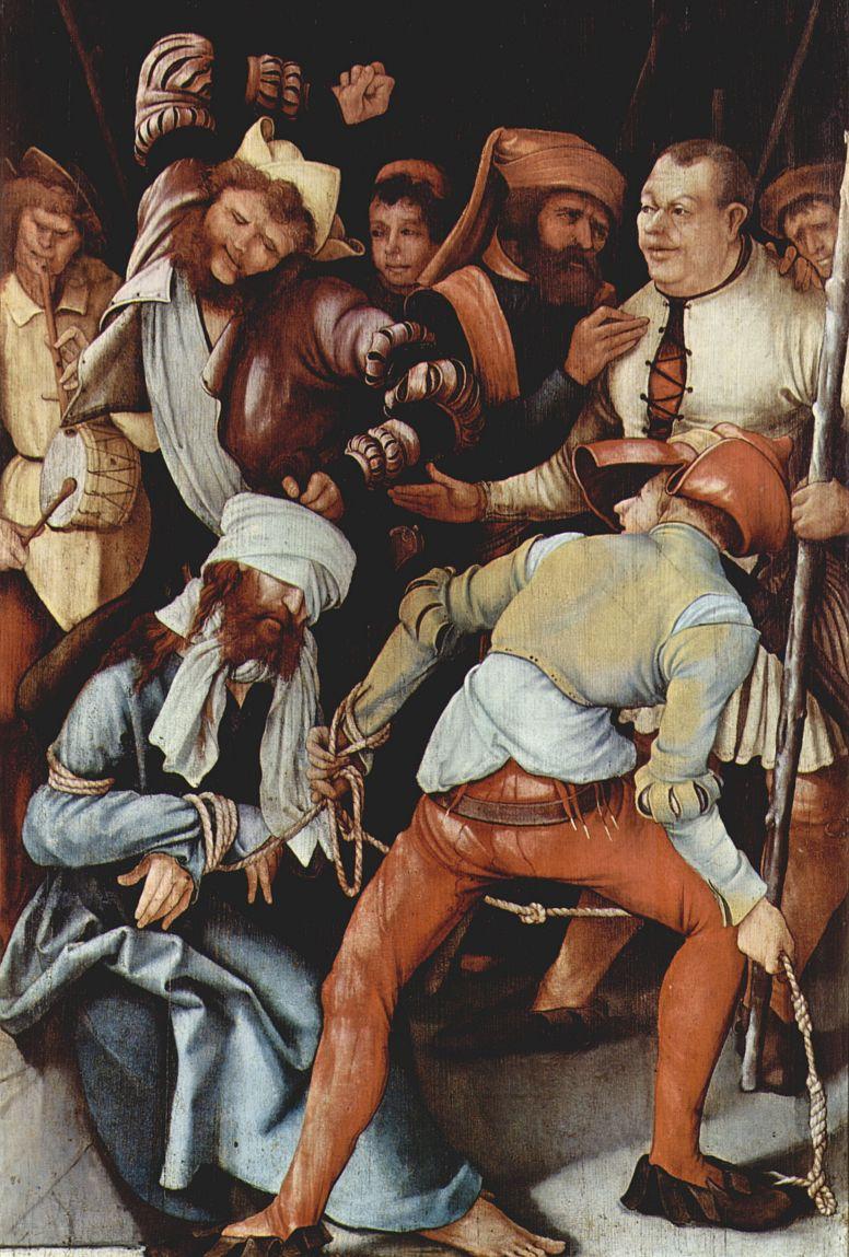 Маттиас Грюневальд. Осмеяние Христа