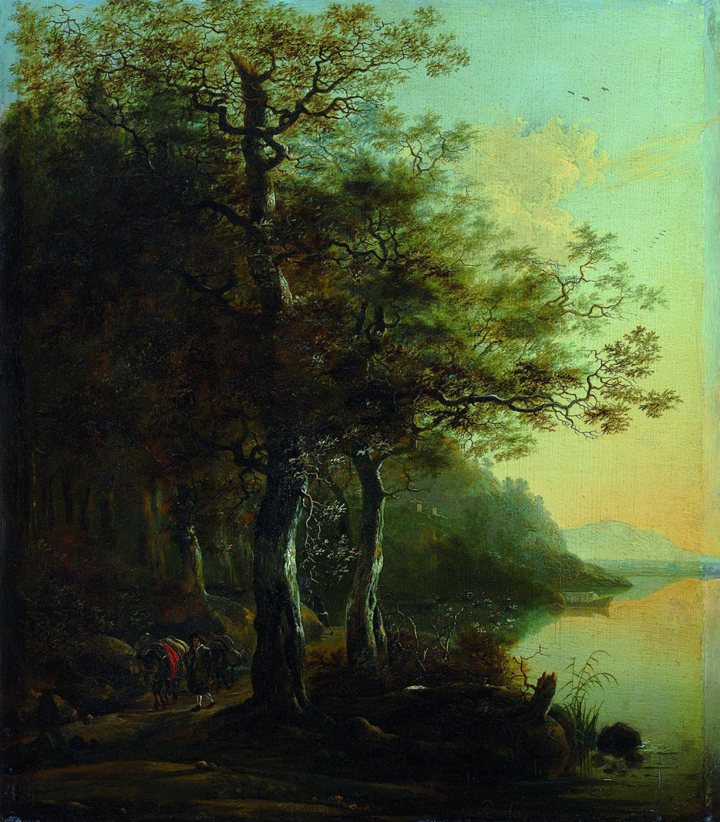 Adam Peynaker. The road under the trees by the river