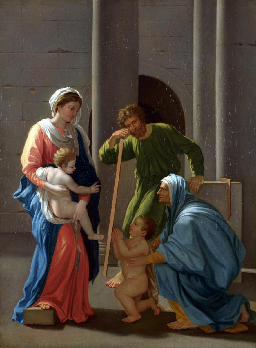Пуссен Никола После. Святое семейство со святыми Елизаветой и Джоном