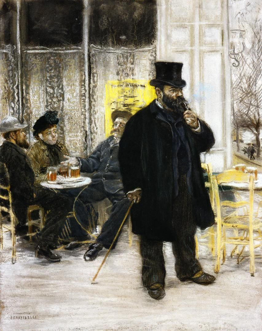 Jean-François Raffaelli. Bohemians in the café