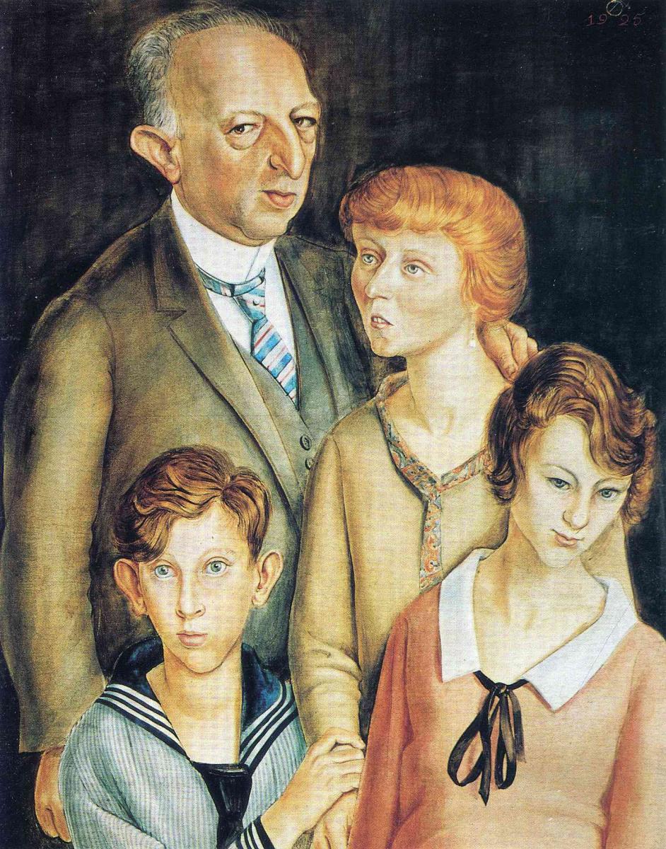Отто Дикс. Семейный портрет