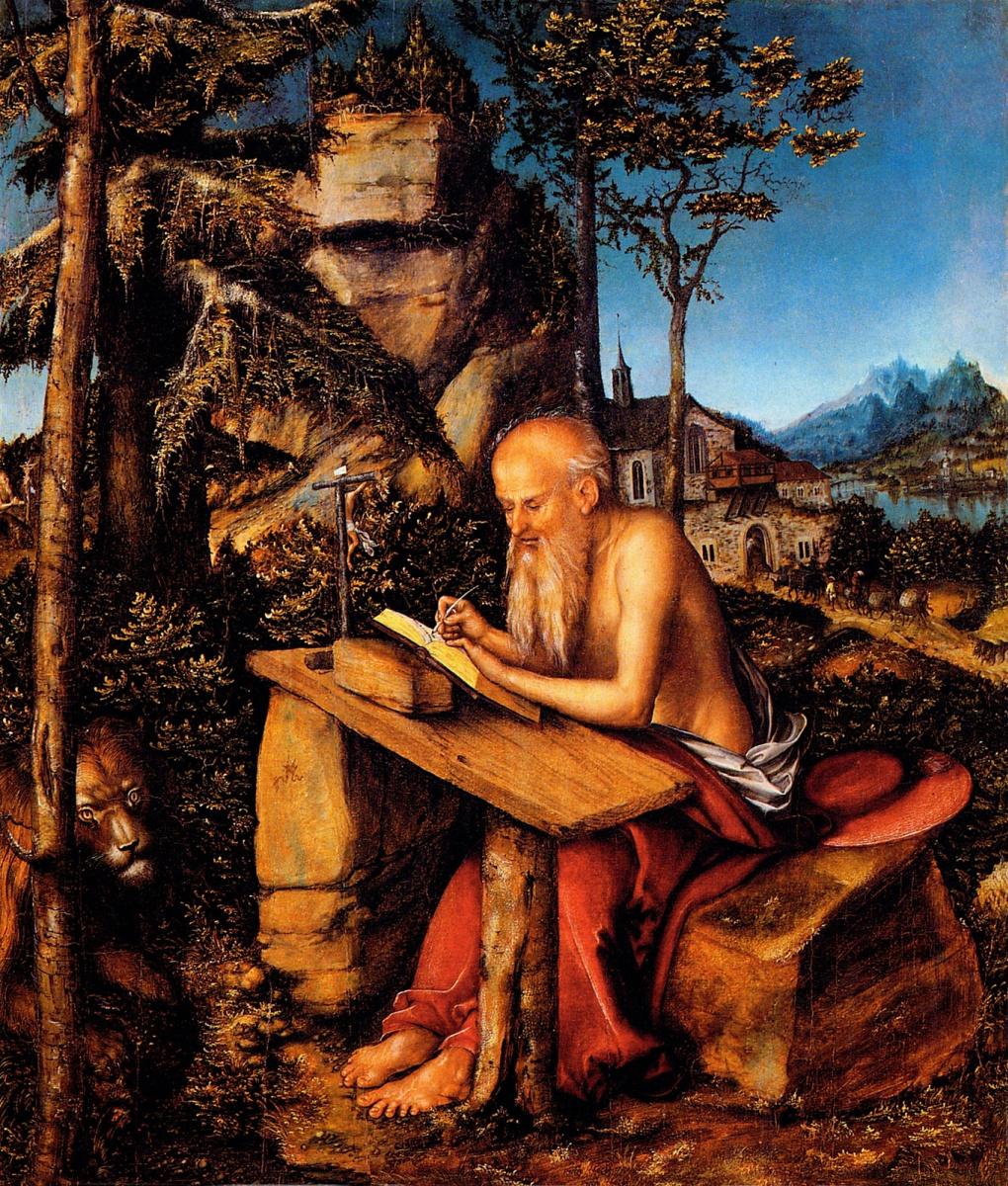 Лукас Кранах Старший. Святой Иероним в пустыне
