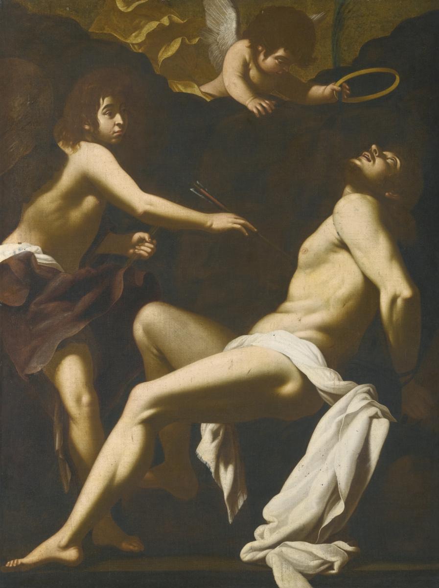 Джованни Бальоне (Баглионе). Святой Себастьян, поддерживаемый ангелами