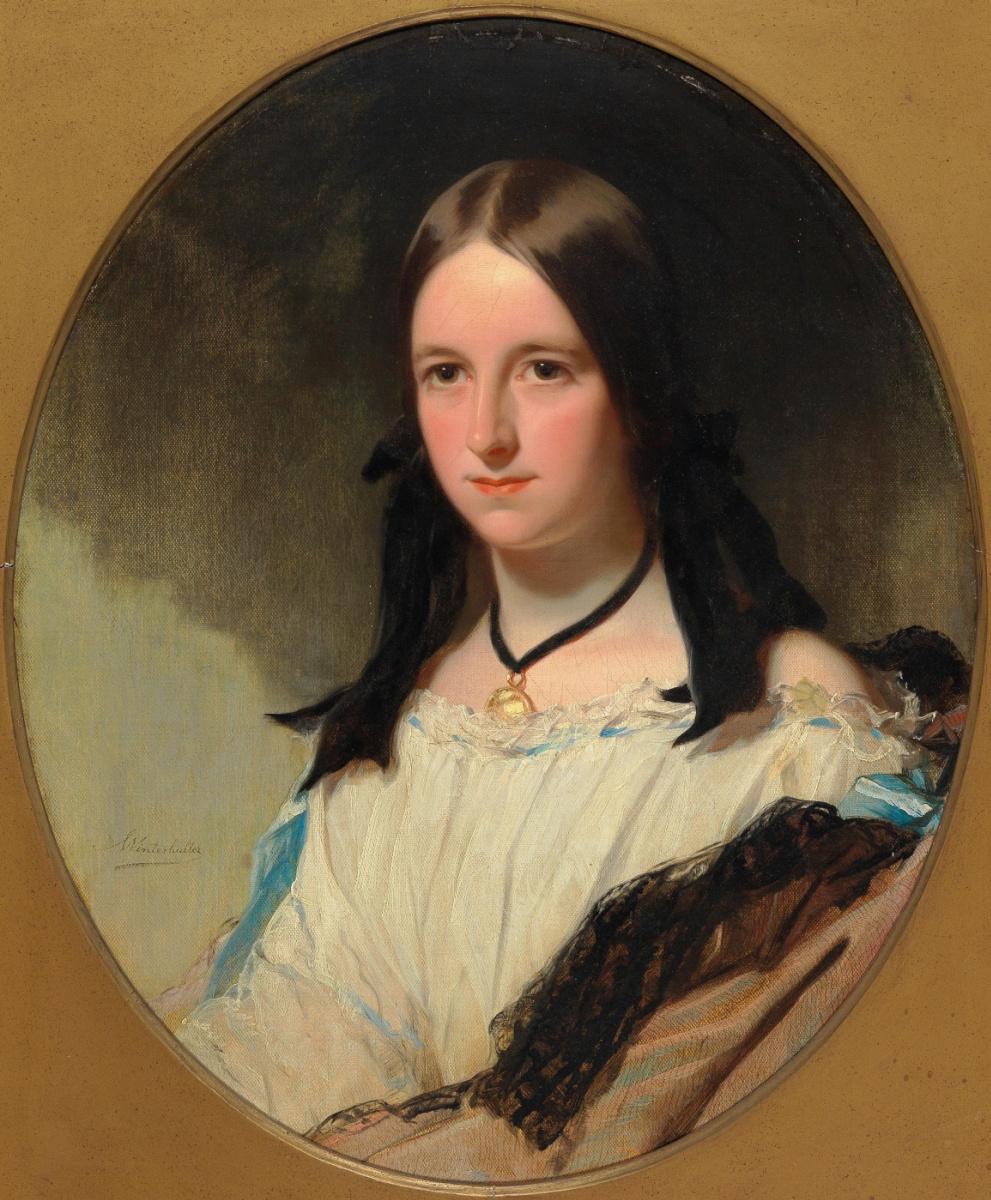 Франц Ксавер Винтерхальтер. Портрет молодой женщины