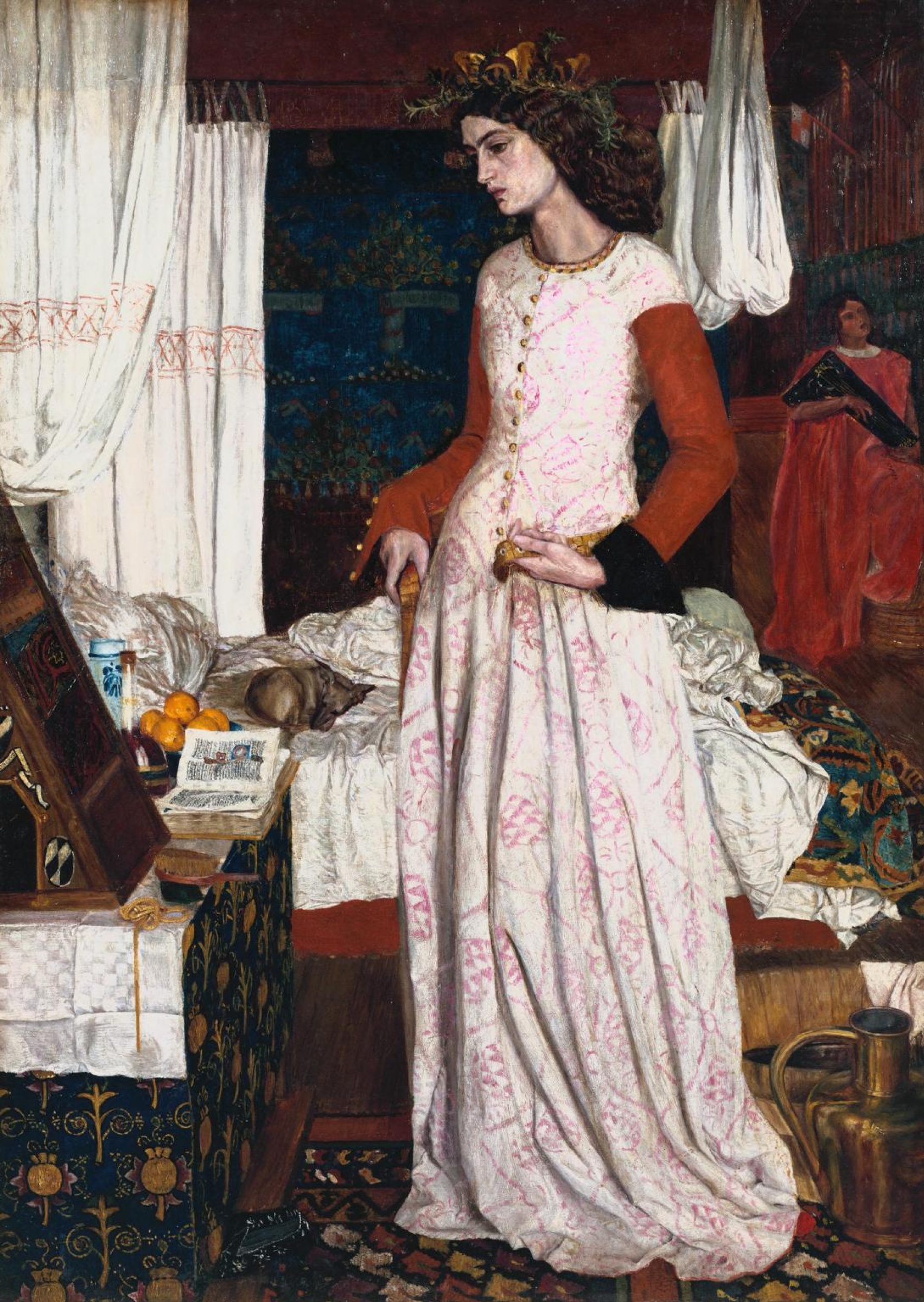William Morris.  La belle Isolde (Portrait de l'épouse de l'artiste Jane Morris)