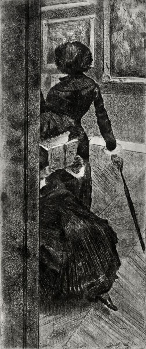 Эдгар Дега. Мэри Кассат в картинной галерее Лувра