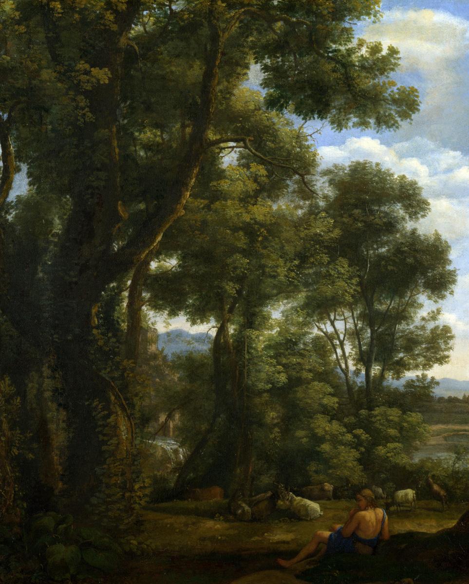 Клод. Пейзаж с пастухом и козами