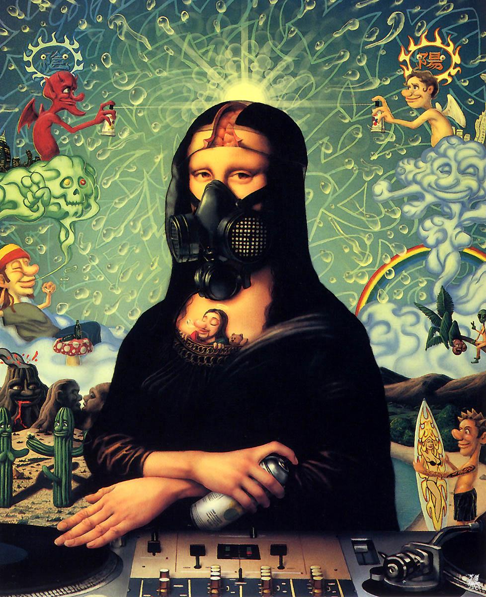 Наото Хаттори. Пародия Мона Лиза