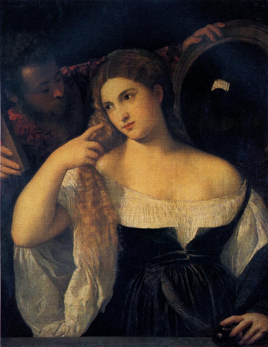 Тициан Вечеллио. Женщина за туалетом