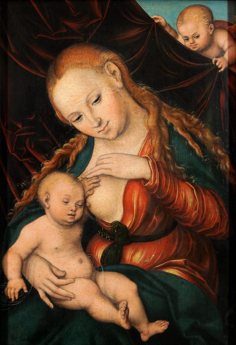 Lucas Cranach the Elder. Madonna Nursing The Child