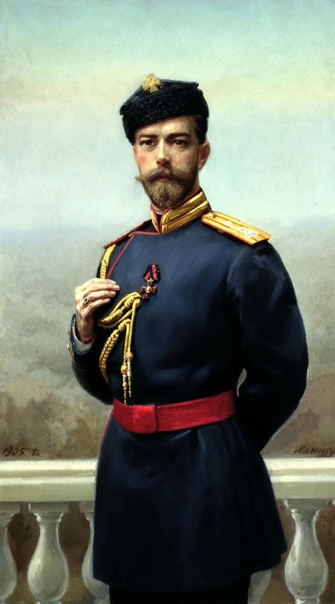 Генрих Матвеевич Манизер. Император Николая II с орденом святого Владимира