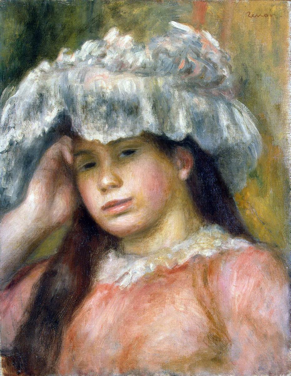 Пьер Огюст Ренуар. Девушка в шляпе