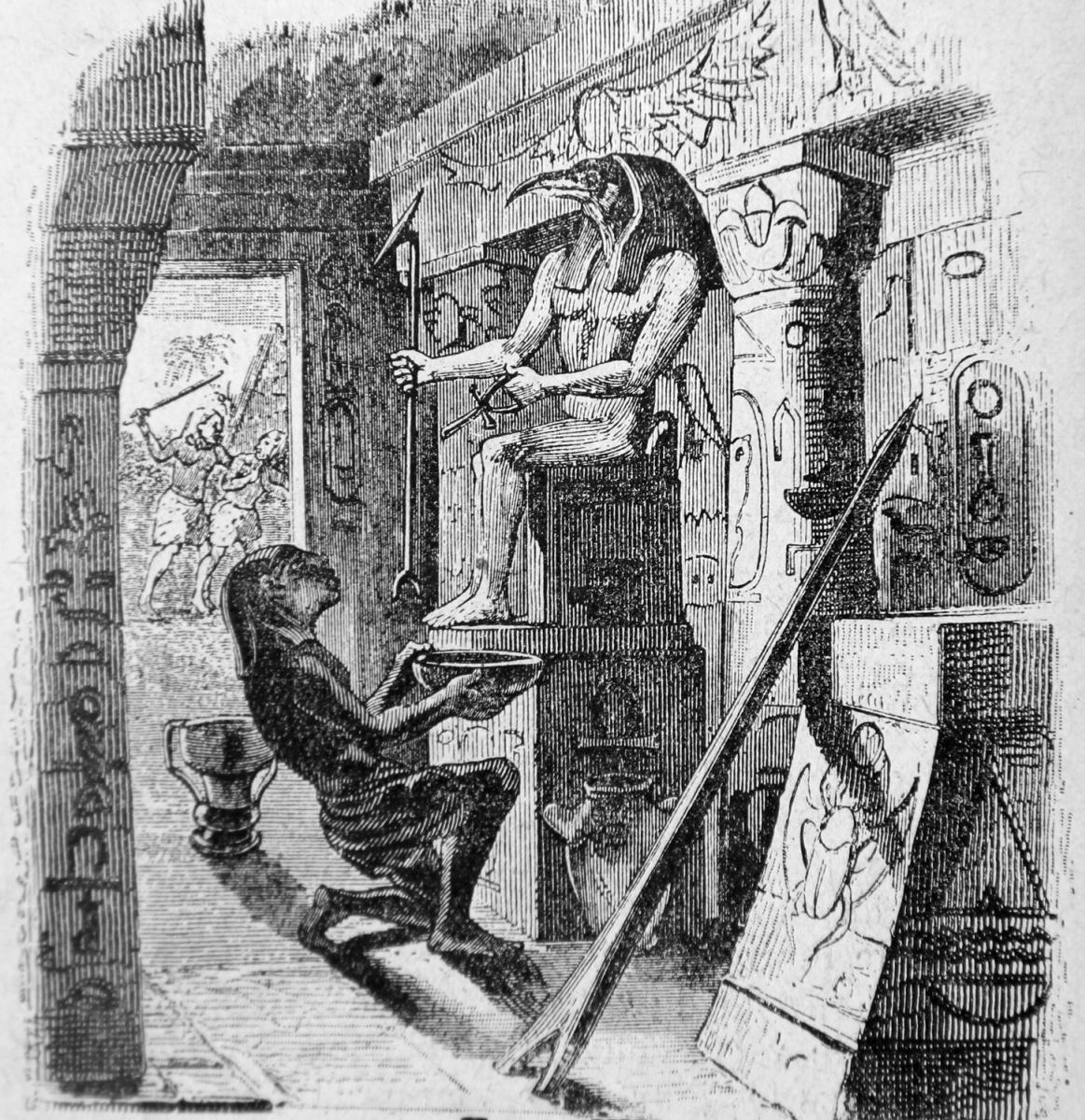 Жан Иньяс Изидор (Жерар) Гранвиль. Язычник и Идол. Иллюстрации к басням Жана де Лафонтена
