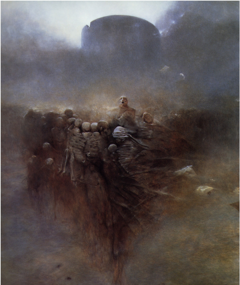 Zdzislaw Beksinsky. Plot 145
