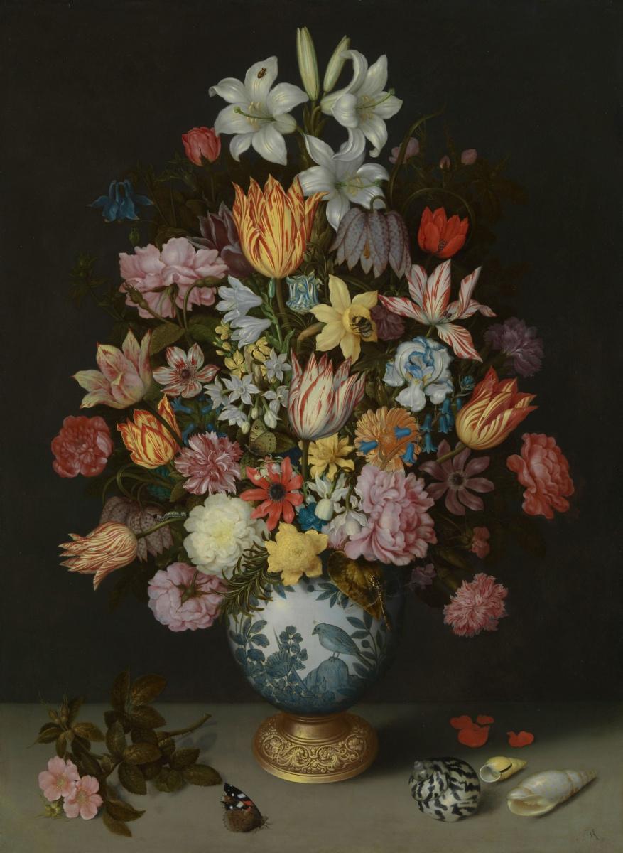 Амброзиус Босхарт Старший. Цветочный натюрморт в вазе Ван-Ли