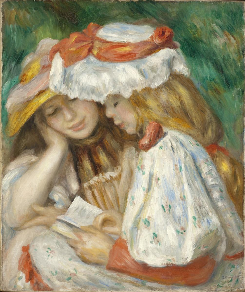 Pierre-Auguste Renoir. Two Girls Reading