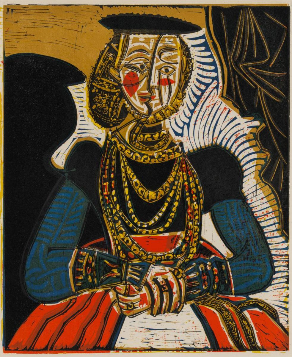 Пабло Пикассо. Портрет женщины (по Кранаху-младшему)