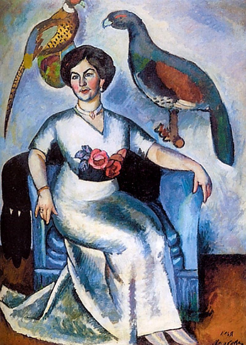 Илья Иванович Машков. Портрет дамы с фазанами