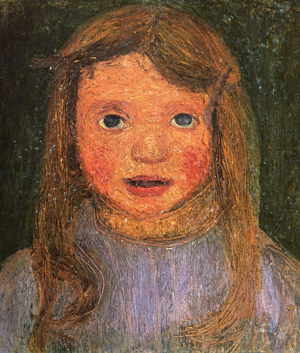 Паула Модерсон-Бекер. Голова мальнькой девочки