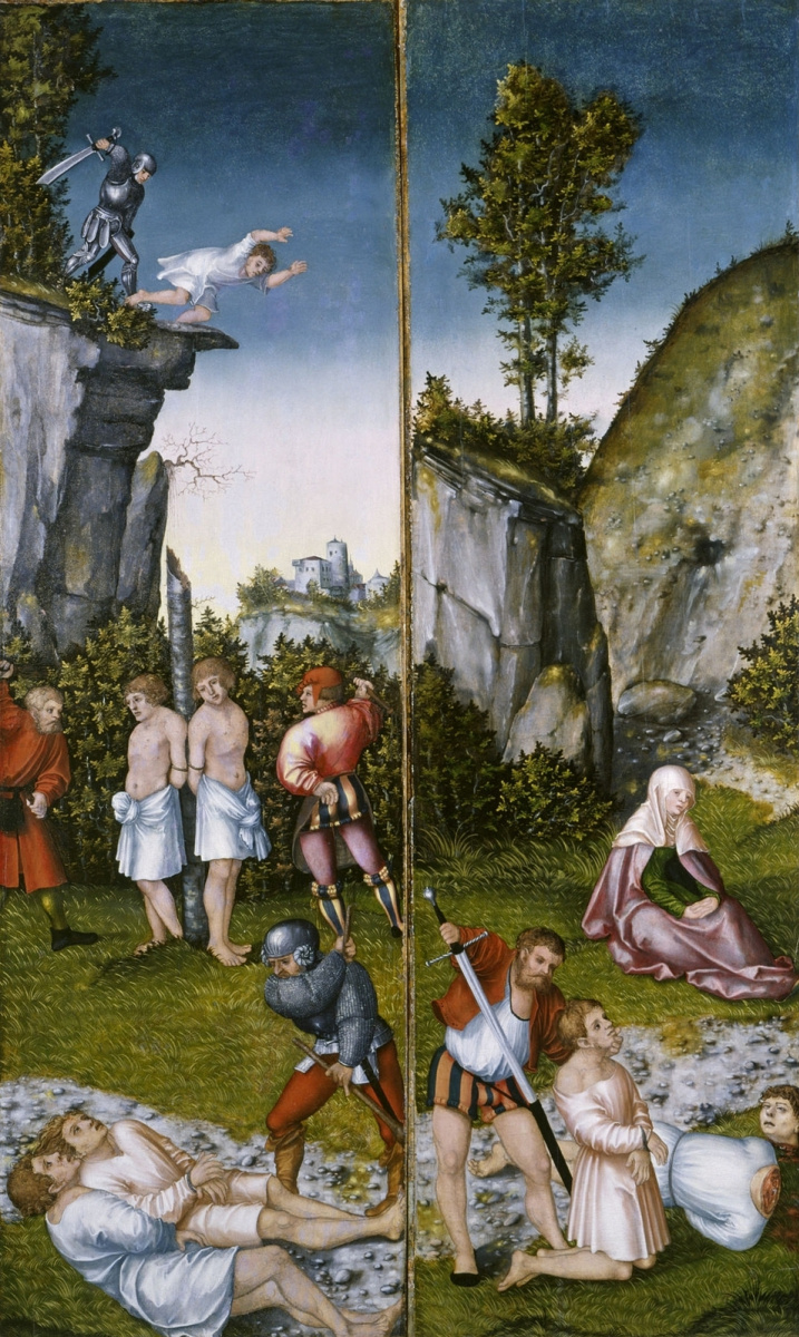 Lucas Cranach the Elder. The martyrdom of the seven sons of Felicity