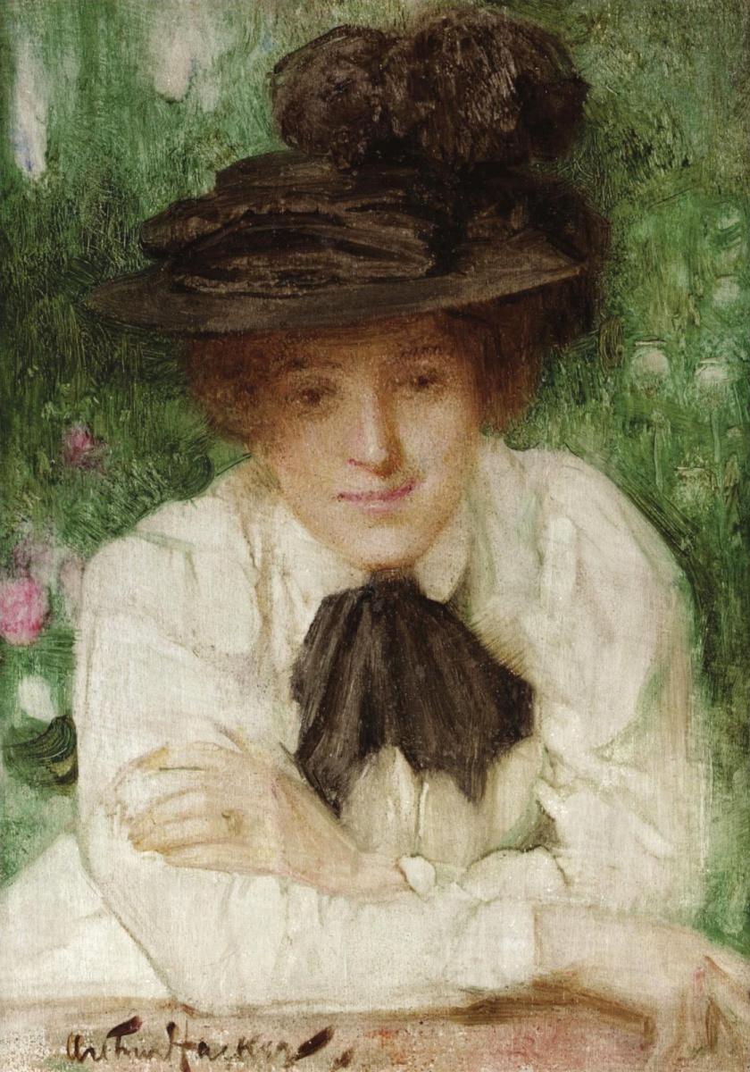 Артур Хакер. Портрет эдвардианской дамы.