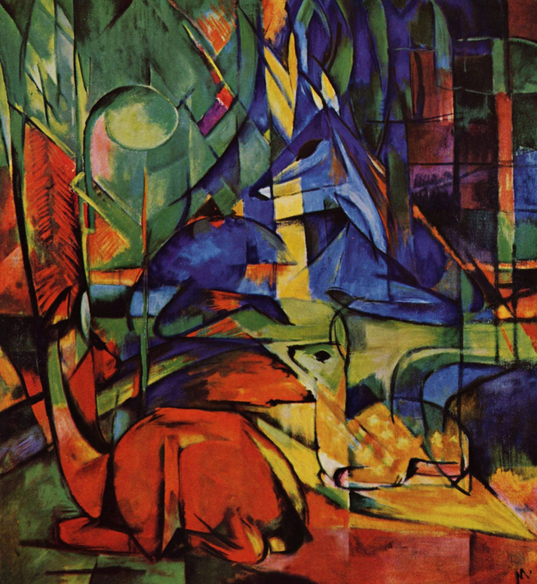 Franz Marc. Deer in the forest