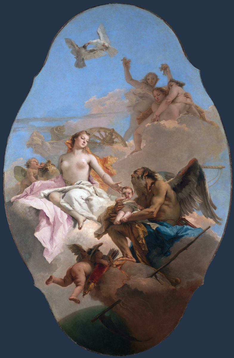 Giovanni Battista Tiepolo. An allegory with Venus and Time